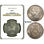 ZE88, France, Napoleon III, 5 Francs 1856-A, Paris, Silver, NGC MS62