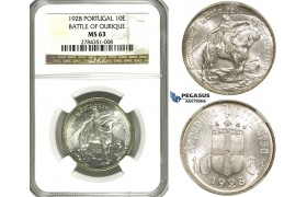 ZF04, Portugal, 10 Escudos 1928 (Battle of Ourique) Silver, NGC MS63