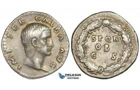 ZF26, Roman Empire, Galba (68-69 AD), AR Denarius (3.45g) Rome, SPQR, gVF (Scuff) Rare!