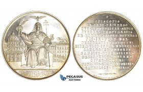 ZF97, Vatican, Pius IX, Silver Medal 1862 by B. Zaccagnini, on the canonization of 26 Franciscans who have sacrificed in the Mission in Japan as martyrs of Nagasaki in 1597, UNC in Original Box