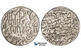 ZG28, Seljuks of Rum, Kay Ka'us II, Qilich Arslan IV, & Kay Qubadh II. Joint rule, AR Dirhem (3.00g) Kayseri, gVF, Rare!
