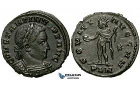 ZG45, Roman Empire, Constantine I (306-337 AD), Æ Nummus (4.65g) Londinium (London) Sol Standing, Brown EF