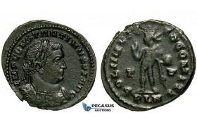 ZG46, Roman Empire, Constantine I (306-337 AD), Æ Nummus (4.27g) Londinium (London) Sol Standing, Brown Good VF