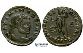 ZG52, Roman Empire, Maximinus II (311-313 AD) Æ Nummus (5.02g) Thessalonica, Jupiter, Brown VF-EF