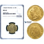 ZG82, France, Louis XVI, Louis D'or 1786-W, Lille, Gold, NGC MS62