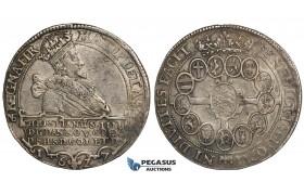 ZH05, Denmark, Christian IV, Speciedaler 1627 NS, Copenhagen, Silver (28.68g) H 55A, Toned gVF