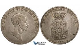 ZH06, Denmark, Frederik VI, 1 Speciedaler 1833 KM, Copenhagen, Silver, H 26B, F-VF