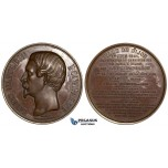 ZH18, France, Dijon, Louis Napoleon, Bronze Medal 1851 (Ø 66mm) on the Paris-Dijon Railway inauguration, Rare!