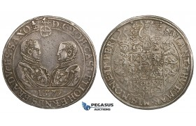 ZH23, Germany, Saxony-Gotha-Coburg, Joh. Kasimir & Joh. Ernst, Taler 1579, Saafeld, Silver (29.02g) VF-EF