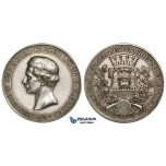 ZH25, Germany, Prussia, Wilhelm II, Silver Medal 1895 (Ø 40.5mm, 24.20g) 50th Anniversary of the Uniformed Shooting-festival, Rare!
