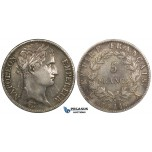 ZI15, France, Napoleon I, 5 Francs 1811-A, Paris, Silver, Toned, Lightly Polished gVF