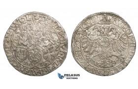 ZI23, Netherlands, Deventer, Kampen & Zwolle, Rijksdaalder (Taler) 1586, Silver (29.13g) Lustrous EF, Rare!
