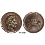 ZI63, Poland, Bronze Medal 1859 (Ø51mm, 47.5g) Joachim Lelewel, Brown EF