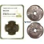 ZI74, Sarawak, C. Brooke Rajah, 1 Cent 1894-H, Heaton, NGC MS63BN