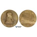 ZI89, Czechoslovakia, Bronze Medal 1919 (Ø80mm, 200g), by Spaniel, Bratislava University, aUNC