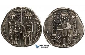 ZI94, Italy, Venice, Francesco Dandolo doge, AR Grosso ND (1329-1339) Venice, Silver (2.20g) VF-EF