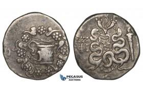 ZJ17, Mysia, Pergamon (ca. 166-67 BC) AR Cistophoric Tetradrachm (12.32g) Struck circa 85-76 BC, Serpents
