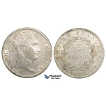 ZJ22, France, Napoleon I, 5 Francs 1810-A, Paris, Silver, Cleaned aXF, minor scratch