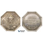 ZJ73, France, Napoleon I, Silver Medal (10.30g) by Tiolier, Rouen, Apiculture, Bee Hive, EF