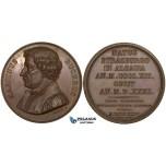 ZJ76, France & Germany, Bronze Medal 1824 (Ø41mm, 44.90g) by Wolf, Martin Bucer, Protestant reformer
