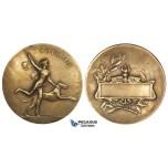 ZJ81, France, Early 20th century Bonze Medal (Ø41mm, 28.69g) by Cariat, Artemis, Nude, Art Nouveau
