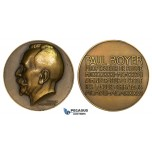 ZJ83, France & Russia, Bronze Medal 1937 (Ø68mm, 150g) by Turin, Paul Boyer, Russian Teacher