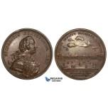ZJ86, Germany, Friedrich II, Bonze Medal 1748 (Ø44mm, 32.22g) by Vestner, Invalides Hospital