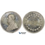 ZJ89, Germany, Tin Medal 1861 (Ø41mm, 25.64g) by Sebald, Samson Oberndorffer, Proof appearance!