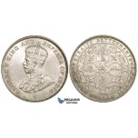 ZK34, Straits Settlements, George V, 1 Dollar 1920, Bombay, Silver, Cleaned UNC