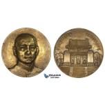 ZK64, China, Sun Yat-sen, Brass Medal Year 18 (1929) (Ø75mm, 160g) by Medallic Art Co.,  Mausoleum