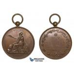 ZK67, France, Bronze Medal 1816 (1840-60) (Ø24mm, 18.25g) Soreze School, Owl