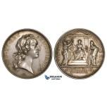 ZK91, France & Russia, Louis XV, Silver Medal (Ø51mm, 33.18g) by Marteau, Ottoman, Belgrade, RR!!