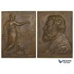 ZL04, Denmark, Bronze Plaque Medal 1912 (70x62mm, 113.2g) by Gunnar, Carlsberg Brewery, Carl Jacobsen