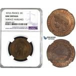 ZL07, France, Third Republic, 10 Centimes 1876-A, Paris, NGC UNC Det.
