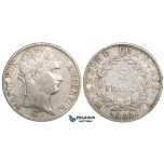 ZL47, France, Napoleon I, 5 Francs 1811-A, Paris, Silver, VF, Cleaned