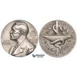 ZL60, Sweden, Silver Medal 1973 (Ø36.5mm, 11.3g) Alfred Nobel, Swedish Medical Society