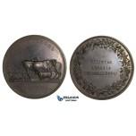 ZL64, Austria, Bronze Medal 1823 (Ø66mm, 83.4g) by Boehm, Agriculture Prize