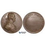 ZL67, France & Poland, Bronze Medal 1735 (Ø51mm, 31.52g) by Duvivier, War of Succession