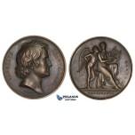 ZL79, Denmark, Bronze Medal 1837 (Ø45mm, 41.84g) by Voigt, Albert Thorwaldsen