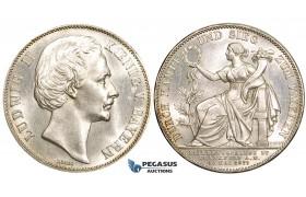 ZL81, Germany, Bavaria, Ludwig II, Taler 1871, Munich, Silver, Lustrous UNC