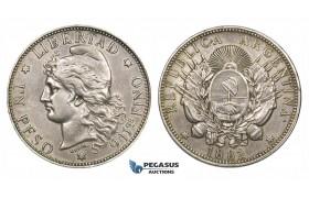 ZM193, Argentina, Peso 1882, Silver, XF