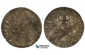ZM738, Denmark, Christian III, 2 Skilling 1536, Copenhagen, Silver (1.46g) H 3, Flaws and cracks, F-VF