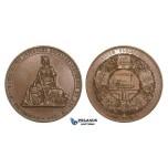 ZM781, Germany, Bronze Medal 1844 (Ø45mm, 47.2g) by Loos, Train, Railroad