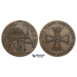 ZM782, Germany & France, Bronze Medal 1914 (Ø54mm, 58.4g) WW1 Entry of Troops in Paris