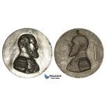 ZM785, Russia, Alexander III, Large Cast Bronze Medal (c. 1900) (Ø210mm, ap. 1.3kg) by Abel Lafleur
