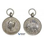 ZM792, Thailand, Rama V, Silver Medal 1887 (Ø30.5mm, 16.9g) with loop, Very Rare!