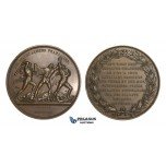 ZM877, France, Napoleon I, Bronze Medal 1819 (Ø55mm, 70.3g) by Droz, French Army, Nude Art