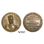 ZM888, Italy & Turkey, Bronze Medal 1927 (Ø40mm, 23.5g)  General Ezio Reisoli, Italo – Turkish War