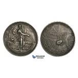 ZM901, Turkey (Ottoman Empire) & Serbia, Silver Medal 1902 (Ø40mm, 26g) Liberation of Petrovaradin, Rare!