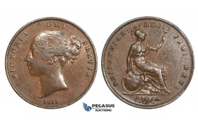 AA033, Great Britain, Victoria, Penny 1855, Brown VF